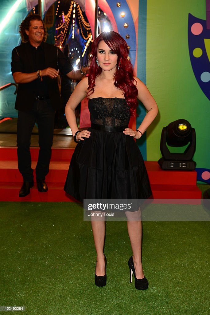 Dulce María attends the Premios Juventud 2014 Awards at Bank United Center on July 17, 2014 in Miami, Florida.