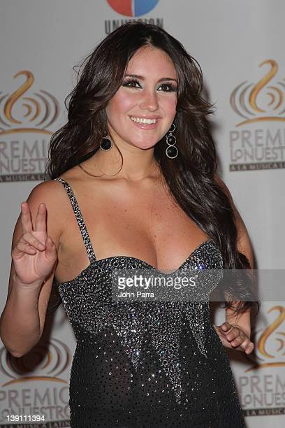 Dulce Maria arrives at the Premio Lo Nuestro a La Musica Latina at American Airlines Arena on February 16 2012 in Miami Florida