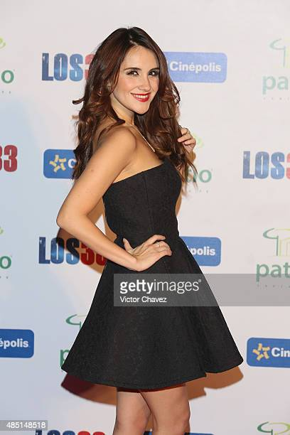 Dulce Maria attends 'Los 33' Mexico City premiere at Cinepolis Patio Santa Fe on August 24 2015 in Mexico City Mexico