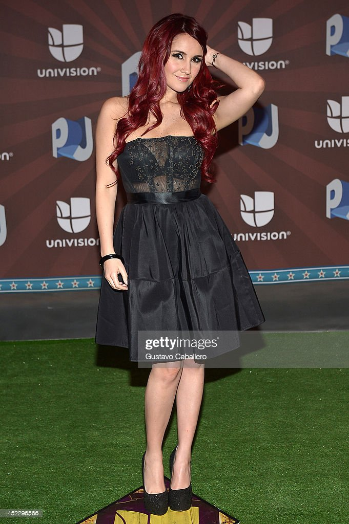 Dulce Maria attends the Premios Juventud 2014 at The BankUnited Center on July 17, 2014 in Coral Gables, Florida.