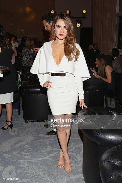 Dulce Maria attends the Vogue GQ All Access during the MercedesBenz Fashion Week Mexico Fall/Winter 2016 at St Regis Hotel on April 14 2016 in Mexico...
