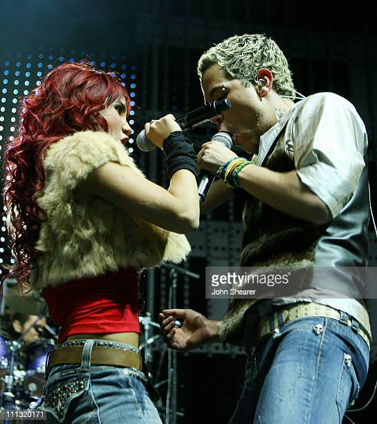 Dulce Maria Espinoza Savinon and Jose Christian Chavez Garza of RBD