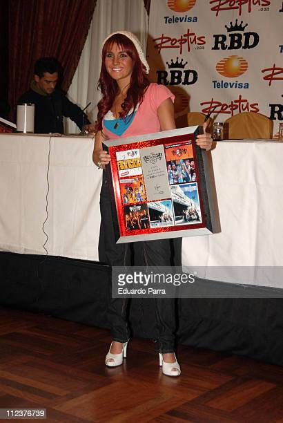 Dulce Maria of RBD during RBD Press Conference in Madrid January 8 2007 at Palace Hotel in Madrid Spain