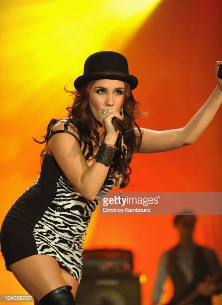 Dulce Maria performs during People En Espanol Celebrates Hispanic Heritage Month With Festival 2010 at Marriot Marquis on September 18 2010 in New...