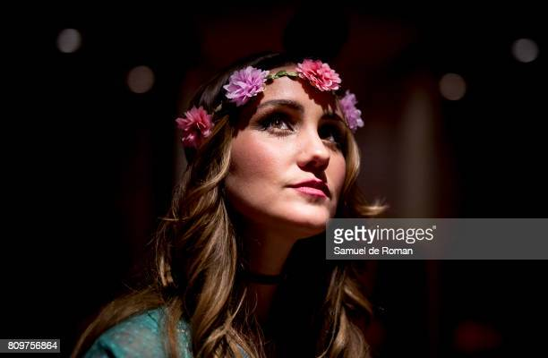 Dulce Maria poses during a photo session to present her new album on July 6 2017 in Madrid Spain