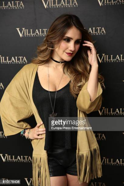 Dulce Maria poses for a photo session to promote her 'DM' album on July 6 2017 in Madrid Spain
