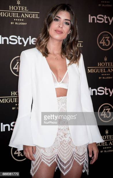 Dulceida attends El Jardin del Miguel Angel party photocall at Miguel Angel hotel on May 24 2017 in Madrid Spain