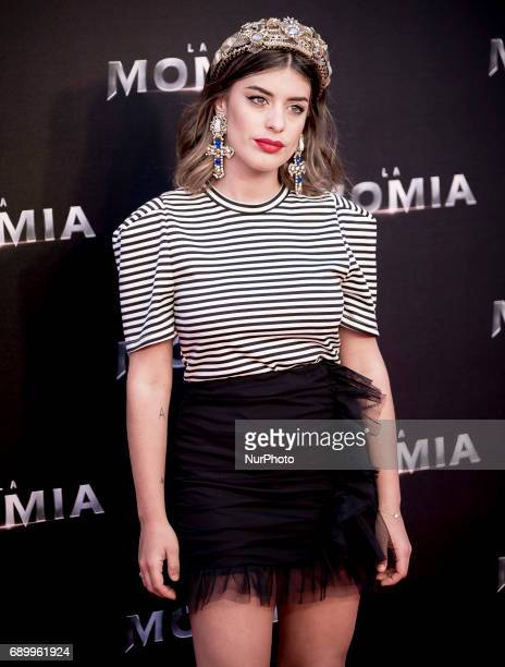 Dulceida attends 'The Mummy' premiere at Callao Cinema on May 29 2017 in Madrid Spain