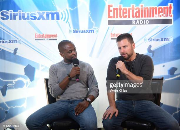 Dule Hill and James Roday attend SiriusXM's Entertainment Weekly Radio Channel Broadcasts From Comic Con 2017 at Hard Rock Hotel San Diego on July 21...