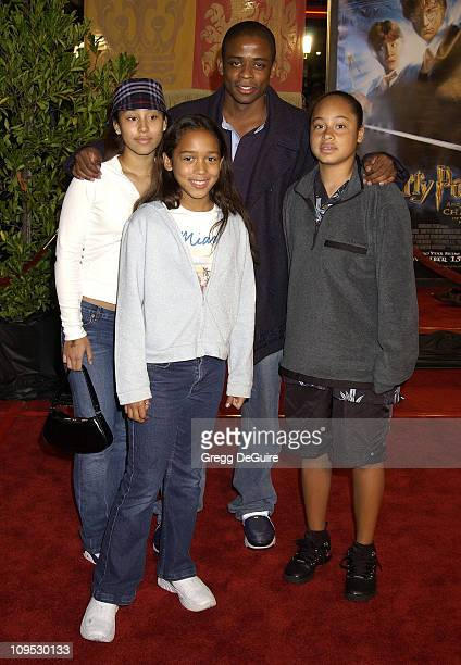 Dule Hill cousins Taylor Kai Jordan during 'Harry Potter and the Chamber of Secrets' Premiere Los Angeles Arrivals at Mann Village Theatre in...