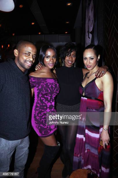 Dule Hill Tika Sumpter Condola Rashad and guest celebrate Condola Rashad's birthday at The Jimmy Bar at the James Hotel on December 11 2013 in New...