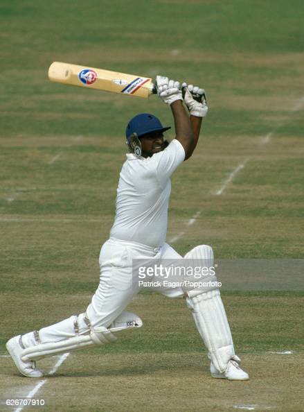 Duleep Mendis batting for Sri Lanka during his innings of 111 in the Only Test match between England and Sri Lanka at Lord's Cricket Ground London...