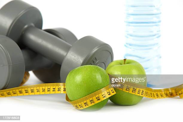 Dumbbells and apples
