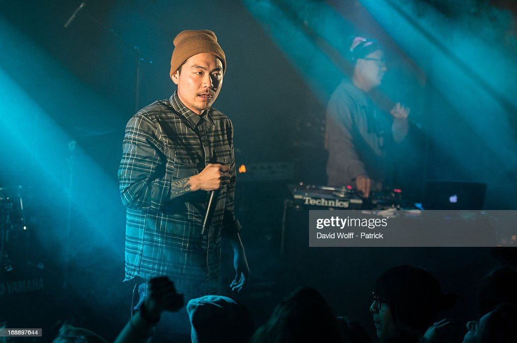 Dumbfoundead opens for Watsky at La Maroquinerie on May 16, 2013 in Paris, France.