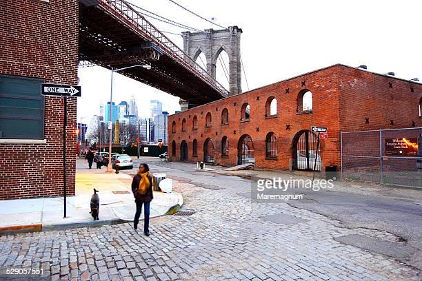 Dumbo area near Brooklyn and Manhattan bridge