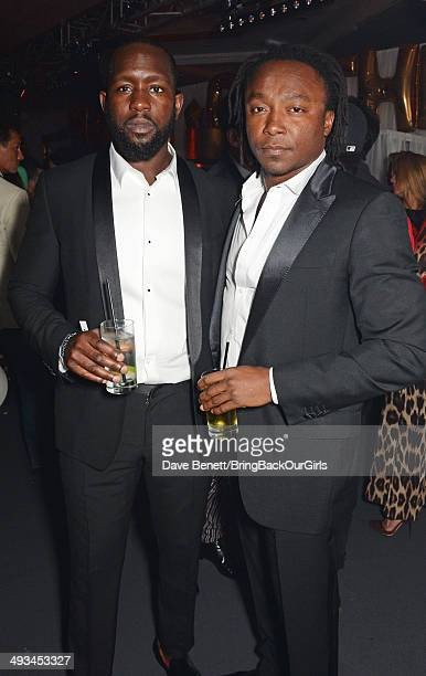 Dumi Oburota and Freddie Achom attend Naomi Campbell's birthday party at the Billionaire Club Sunset Lounge on May 23 2014 in Monaco Monaco