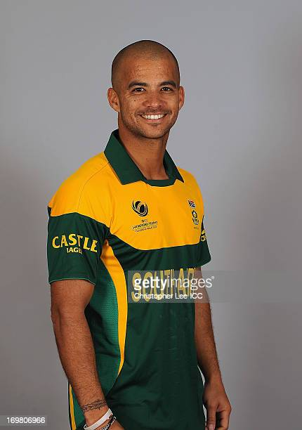 Duminy during the South Africa Portrait Session at the Royal Gardens Hotel on June 2 2013 in London England