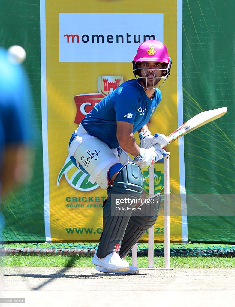 JP Duminy during the South African national cricket team training session and press conference at Bidvest Wanderers Stadium on February 11, 2016 in Johannesburg, South Africa.