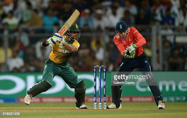 Duminy of South Africa bats during the ICC World Twenty20 India 2016 Super 10s Group 1 match between South Africa and England at Wankhede Stadium on...