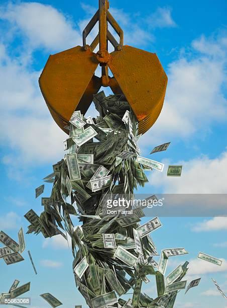 Dump bucket of money
