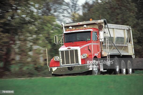 Dump truck approaching