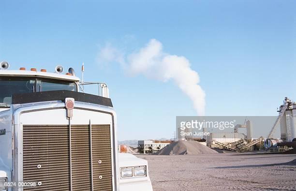 Dump Truck at Asphalt Plant