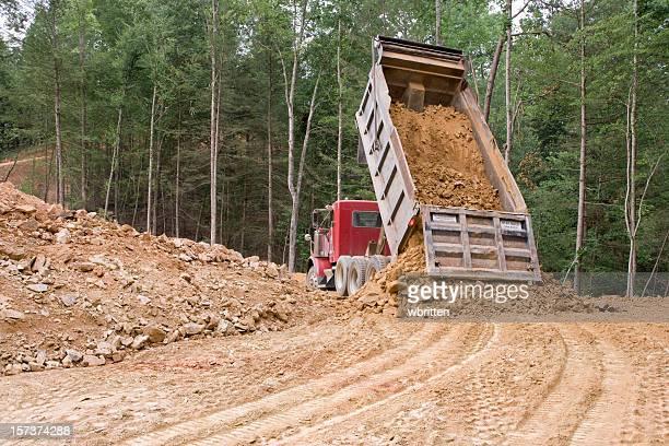 Dump truck dumping (XXL)