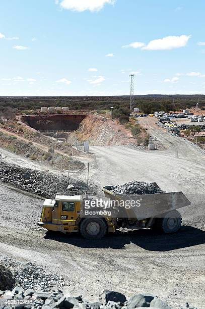 A dump truck loaded with copper ore exits the underground mine at the Sandfire Resources NL copper operations at DeGrussa Australia on Sunday Aug 2...
