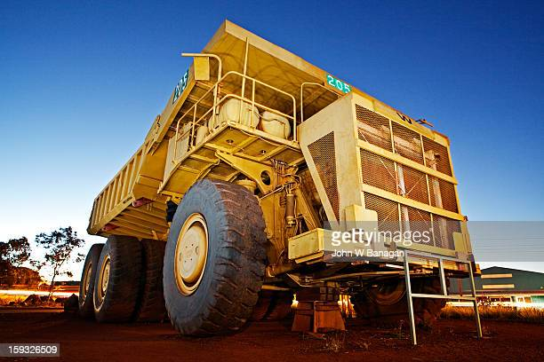 Dump truck on display for tourists