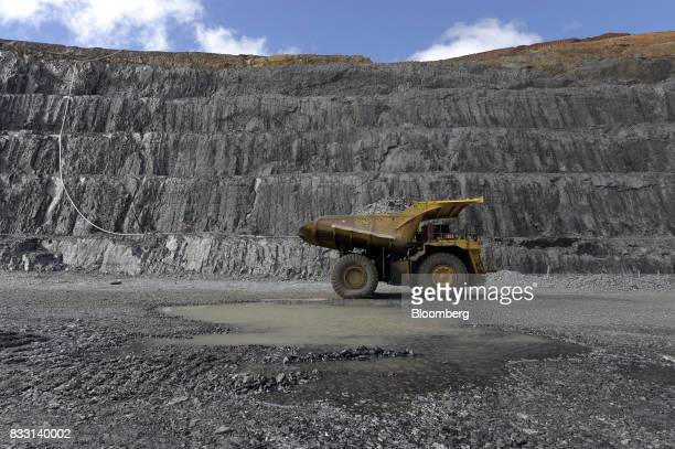 A dump truck sits in the Invincible open pit mine at the St Ives Gold Mine operated by Gold Fields Ltd in Kambalda Australia on Wednesday Aug 9 2017...