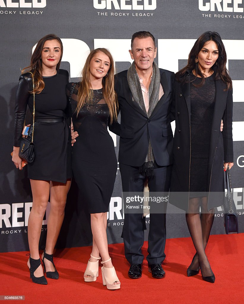 Duncan Bannatyne (2nd R) and Nigora Whitehorn (R) attend the European Premiere of 'Creed' on January 12, 2016 in London, England.