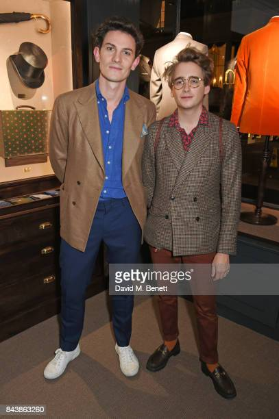 Duncan Campbell and Luke Edward Hall attend the launch of the 'Kingsman' shop on St James's Street in partnership with MR PORTER MARV Twentieth...