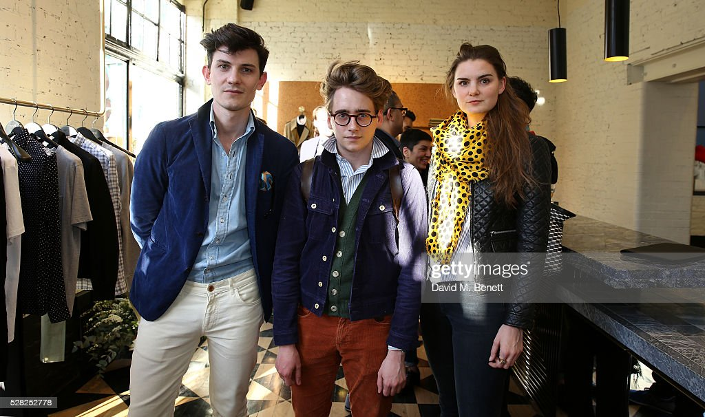 Duncan Campbell, Luke Edward Hall and Charlotte Rey attend Ami Mayfair Store Opening on May 4, 2016 in London, England.