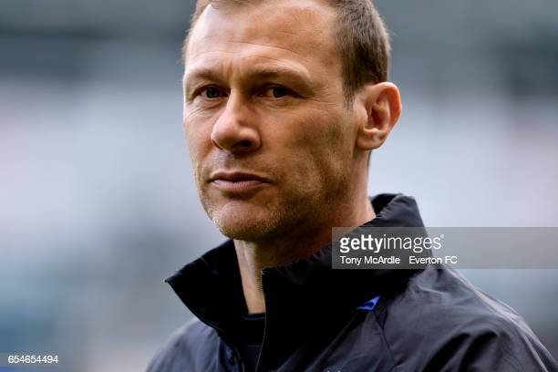 Duncan Ferguson during the Premier League match between Tottenham Hotspur and Everton at White Hart Lane on March 5 2017 in London United Kingdom