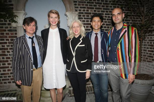 Duncan Hanna Keziah Beall Angela Kim Jason Ortiz and Luke O'Donnell attend Rowing Blazers Menswear Collection Launch at The Explorer's Club on May 18...
