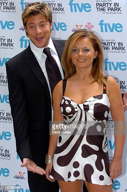 Duncan James and Geri Halliwell during Capital Fm's Party In The Park 2004 Photocall In Aid Of The Prince's Trust at 5 Cavendish Square in London