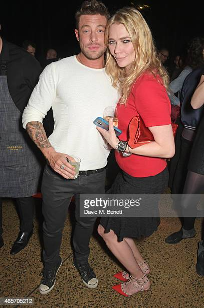 Duncan James and Jodie Kidd attend a party hosted by Instagram's Kevin Systrom and Jamie Oliver This is their second annual private party taking...