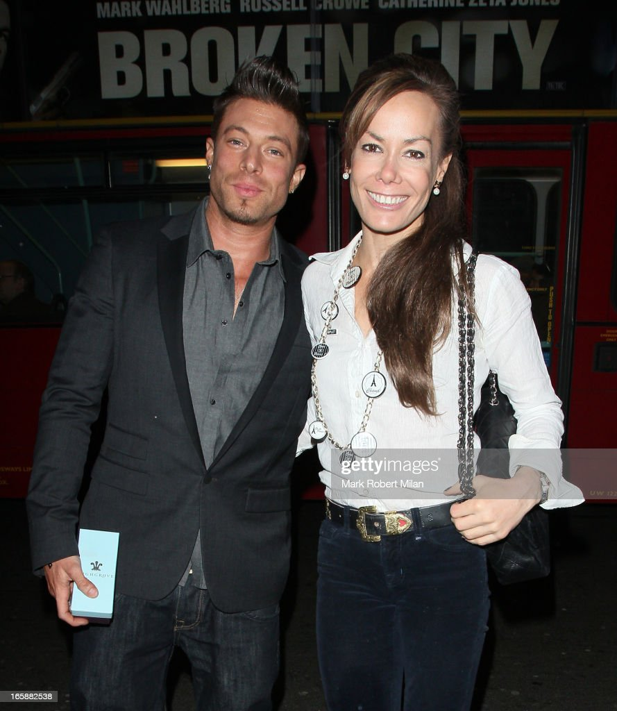 Duncan James and Tara Palmer-Tomkinson dine at Buddha Bar on April 6, 2013 in London, England.