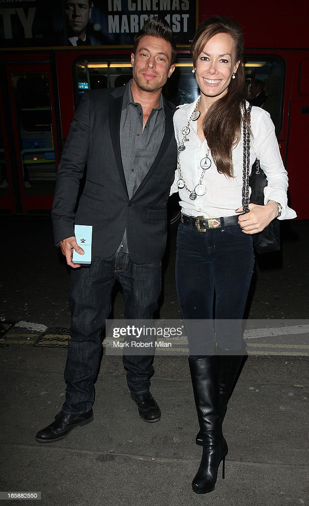 Duncan James and Tara Palmer-Tomkinson dine at Buddha Bar on April 6, 2013 in London, England.