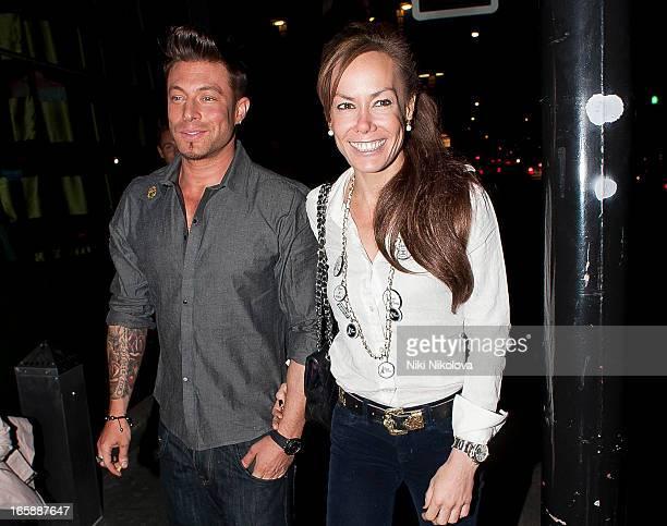 Duncan James and Tara PalmerTomkinson sighting at Buddha Bar on April 6 2013 in London England