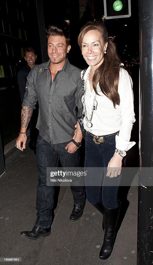 Duncan James and Tara Palmer-Tomkinson sighting at Buddha Bar on April 6, 2013 in London, England.
