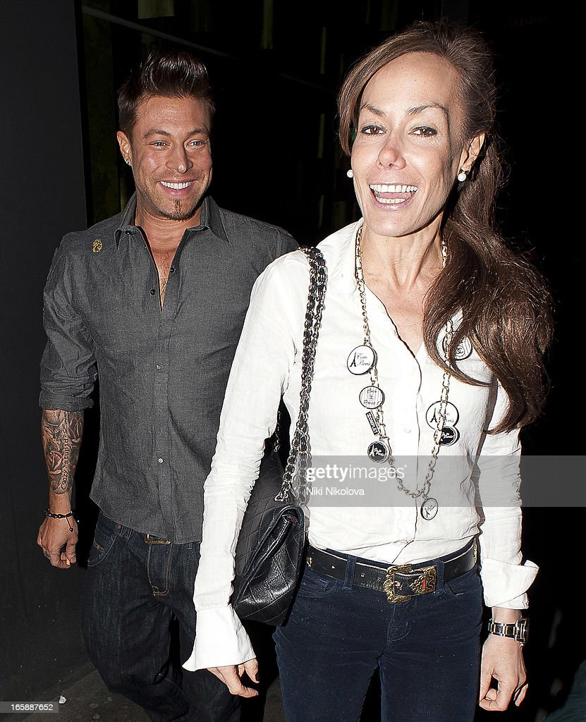Duncan James and Tara Palmer-Tomkinson sighting at Buddha Bar on April 6, 2013 in London, England.