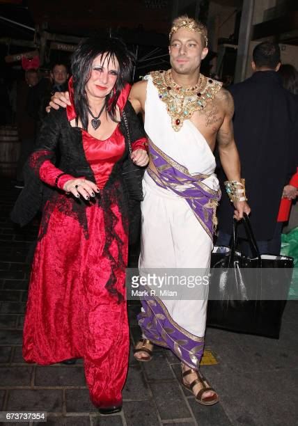 Duncan James departs Caprice Bourret's 40th birthday and Halloween party at the Cuckoo Club on October 27 2011 in London England