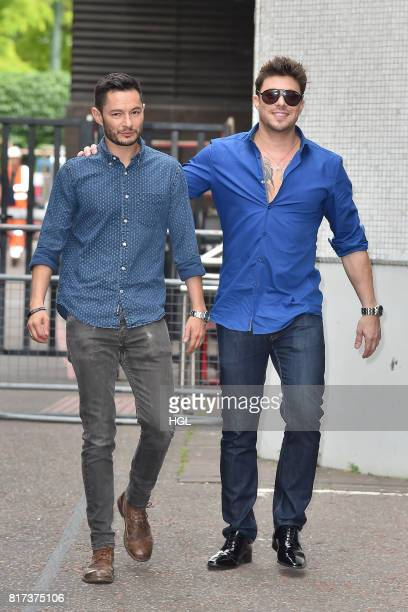 Duncan James Jake Graf seen at the ITV Studios on July 18 2017 in London England