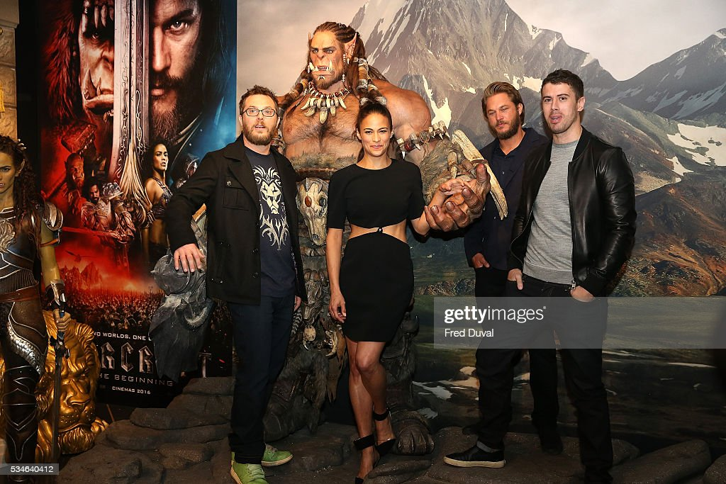 Duncan Jones, <a gi-track='captionPersonalityLinkClicked' href=/galleries/search?phrase=Paula+Patton&family=editorial&specificpeople=752812 ng-click='$event.stopPropagation()'>Paula Patton</a>, <a gi-track='captionPersonalityLinkClicked' href=/galleries/search?phrase=Travis+Fimmel&family=editorial&specificpeople=3144066 ng-click='$event.stopPropagation()'>Travis Fimmel</a> and <a gi-track='captionPersonalityLinkClicked' href=/galleries/search?phrase=Toby+Kebbell&family=editorial&specificpeople=4461792 ng-click='$event.stopPropagation()'>Toby Kebbell</a> attends the launch of the Warcraft Experience at Madame Tussauds on May 27, 2016 in London, England.