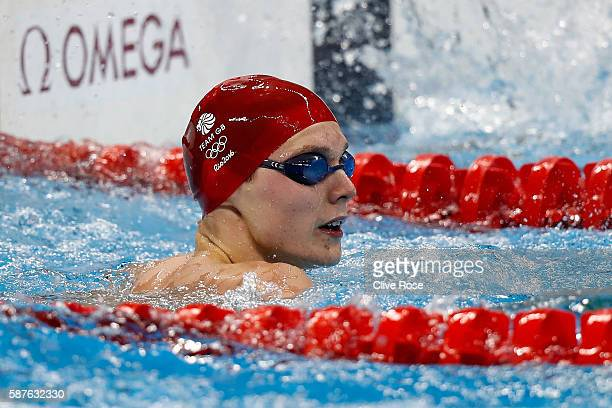 Duncan Scott of Great Britain competes in the Men's 100m Freestyle heat on Day 4 of the Rio 2016 Olympic Games at the Olympic Aquatics Stadium on...