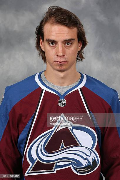 Duncan Siemens of the Colorado Avalanche poses for his official headshot for the 20132014 NHL season on September 11 2013 at the Pepsi Center in...