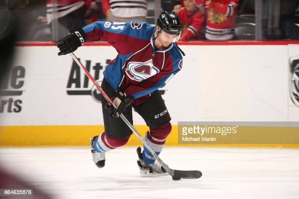 Duncan Siemens of the Colorado Avalanche skates during warm ups prior to the game against the Chicago Blackhawks at the Pepsi Center on April 4 2017...