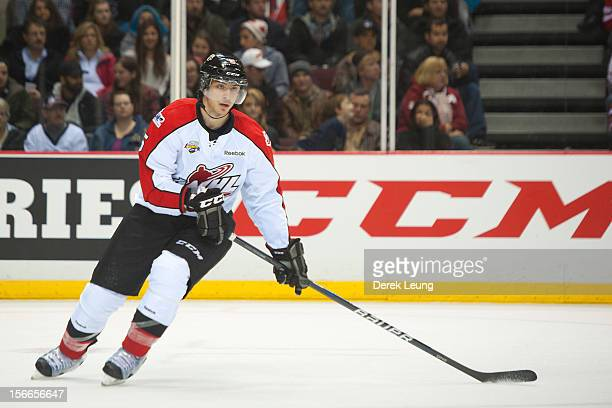 Duncan Siemens of the WHL AllStars skates against team Russia during Game One of the WHLRussia Subway Super Series on November 2012 at Pacific...