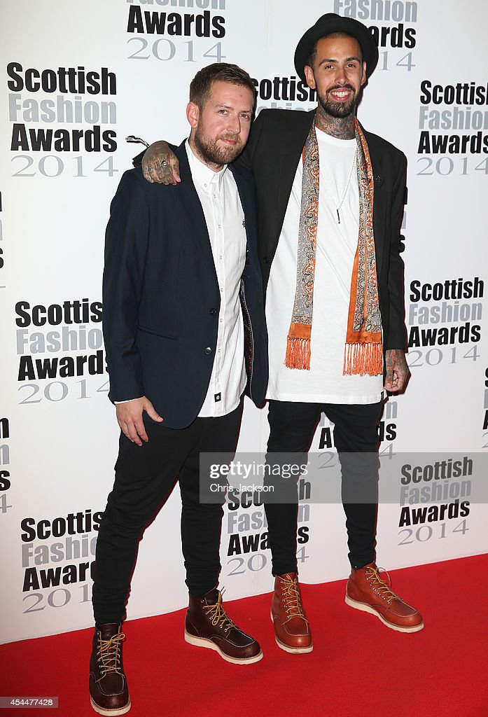 Duncan Sweeny and Richard Davies attend The Scottish Fashion Awards on September 1, 2014 in London, England.